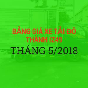 Bảng Giá Xe Tải iz49 Hyundai Đô Thành Tháng 5/2018