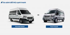 So Sánh Xe Hyundai Solati và Ford Transit