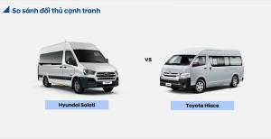 So Sánh Xe Hyundai Solati và Toyota Hiace